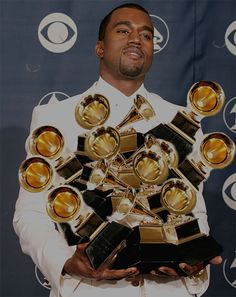 West has won 21 awards from 53 nominations. Kanye West is ranked 8th in the Grammy Award records for most Grammy wins and 6th for most won b...