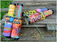 kid recycl, toilet paper rolls, art idea, paper rollsrollo, papers, kids, blog, recycled crafts, rainbow