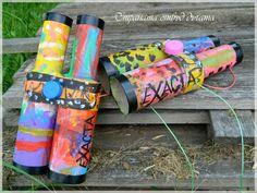 Kids Recycled Crafts - Toilet Paper Roll Binoculars