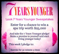 Enter for a chance to win a spa trip worth $25,000! #7YY #sweepstakes #spa #free