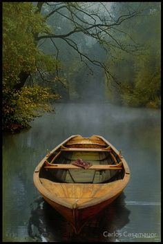 I have always wanted to own a canoe and live on the water...  #canoe #boat #water