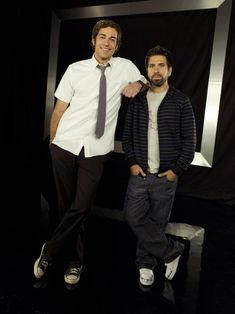 """Chuck and Morgan (from """"Chuck"""", season played by Zachary Levi and Joshua Gomez. Spy Shows, Best Tv Shows, Favorite Tv Shows, Chuck Cast, Chuck Tv Show, Christopher Lawrence, Mark Christopher, Chuck Series, Tv Series"""
