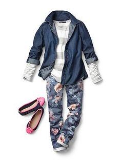 Kids Clothing: Girls Clothing: Featured Outfits Shirts | Gap