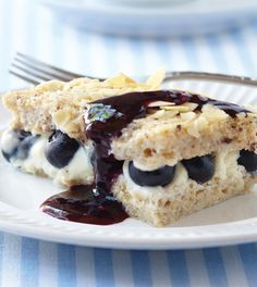 This hearty breakfast casserole, stuffed with blueberry cheesecake filling (yes, that's the clean version) is sinful to be sure, but only 285 calories!
