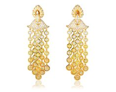 Pampilles Earrings Yellow Sapphire Diamond - Marina B
