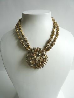 Necklace collectable 1950s MIRIAM HASKELL vintage signed