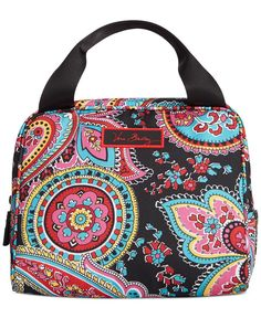 "Cool it. The perfect size to stash your midday meal, sturdy handles make it easy to tote this insulated lunch bag from Vera Bradley. | Polyester | Imported | Polyester | Double handles with 3"" drop 