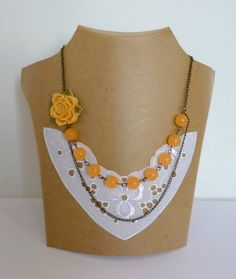 Coral Necklace, Floral Necklace Oversized Flower Necklace Multi-layer Necklace Beadwork Chain Necklace Pastel Orange Necklace