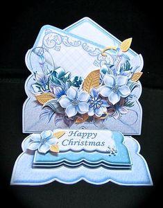 Card Gallery - CHRISTMAS FLORALS 3d Envelope Easel Card Kit