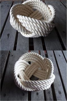 Roped Man Cave DecorKnot Roped Man Cave Decor Aprenda como hacer manualidades para todos Flower Girl Basket Natural Jute Rope Rope Bowl with Handle Deco Marine, Rope Decor, Cotton Bowl, Rope Knots, Rope Crafts, Beach Crafts, Men Crafts, Nautical Bathrooms, Rope Basket