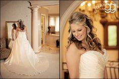 gorgeous bride in the Bridal Suite at Laurel Creek Manor!