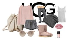 """""""UGG"""" by selmazbanic ❤ liked on Polyvore featuring UGG Australia, Gipsy, UGG, MANGO, The North Face and Lime Crime"""