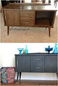 25 Beautiful Furniture Makeover Ideas Using Paint New Simple DIY Furniture Makeover and Transformation The post 25 Beautiful Furniture Makeover Ideas Using Paint appeared first on Lori& Decoration Lab. Cheap Furniture Makeover, Diy Furniture Renovation, Refurbished Furniture, Repurposed Furniture, Furniture Projects, Home Furniture, Furniture Design, Rustic Furniture, Furniture Stores