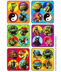 Teenage Mutant Ninja Turtles 75 Stickers Lot Party Favors Teacher TMNT Birthday | eBay