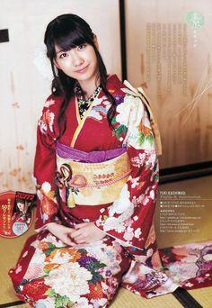 Yuki Kashiwagi in kimono -- she is so under-rated! Kimono Japan, Japanese Kimono, Japanese Fashion, Asian Fashion, Japanese Mythology, Vietnamese Dress, Idole, Asian Cute, It Goes On