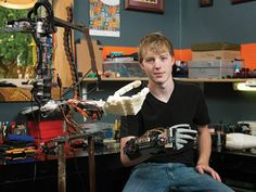 Lori Zimmer  17-Year-Old Creates a 3D-Printed Robotic Prosthetic Arm for $ 250 - smart kids make me smile! :)