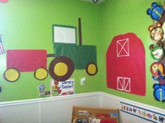 Farm classroom tractor barn bulletin board education preschool crabapple academy