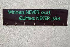 Winners Never Quit Sports Medal and Ribbon by SweetDreamMurals Ribbon Display, Award Display, Sports Medals, Hand Painted, Handmade Gifts, Vintage, Etsy, Kid Craft Gifts, Craft Gifts