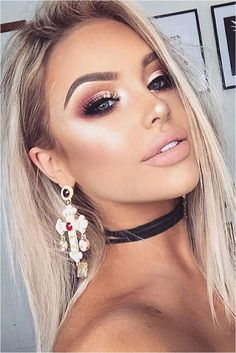 Eyebrow Filler Makeup | Best Place For Eyebrow Shaping | Defined Eyebrows 20181204 Glitter Makeup Looks, Metallic Makeup, Prom Makeup Looks, Glam Makeup Look, Gorgeous Makeup, Sparse Eyebrows, Blonde Eyebrows, Thin Eyebrows, Make Up Looks
