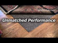 This Video Of Ultra Premium Rug Pad For Hardwood Floors Shows Close Attention To Detail
