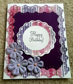 Bitthday Card / Made with Cricut Elegant Edges / Handcrafted By Cindy Babich