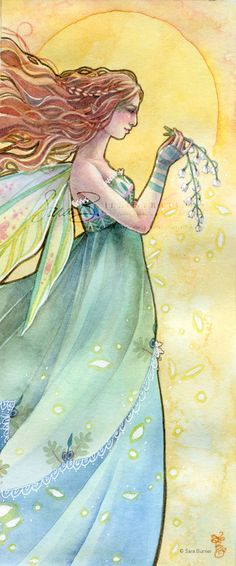 Lily of the Valley  Emerald - May by Sara (Butcher) Burrier :: Sara B Illustration