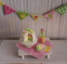 Miniature Easter Cake In Pretty Pastels