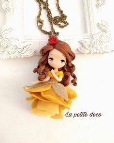 Petite belle #belle #beautyandthebeast #rose #fimo #polymerclaychibis #creative #gold