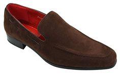 Herren Suede Slip On lässigen-eleganten Italienische Leder Schuhe Velourleder Loafer - http://on-line-kaufen.de/rossellini/40-eu-herren-suede-slip-on-laessigen-eleganten