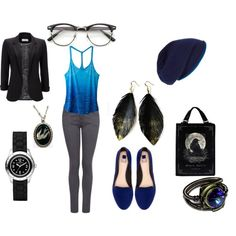 """""""Rendered Black & Blue"""" by c-couzens on Polyvore"""