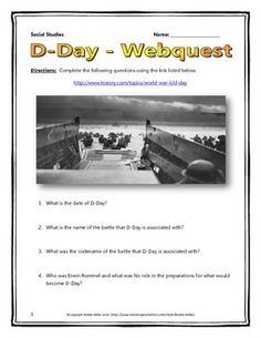 d-day webquest