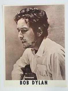 Original ca 1970 Bob Dylan Promotional Poster Concert Promo