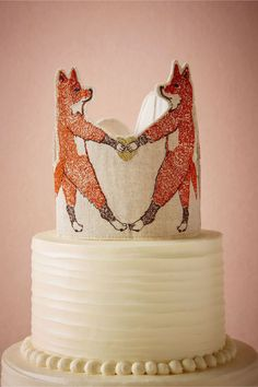 Too freaking cute! Foxtrot Cake Topper by Too freaking cute! Foxtrot Cake Topper by