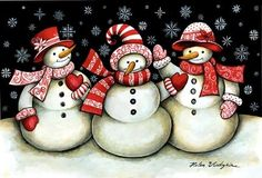 snowmen and hearts