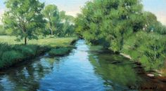Morning Light 12x7 oil on board available at The Gettysburg Frame Shop