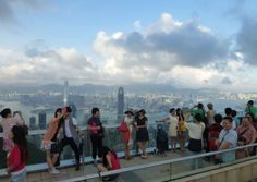 People at the Peak, Hong Kong