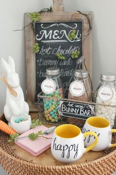Easter hot cocoa bar.