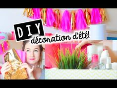 DIY   Décoration d'ÉTÉ! Cute & Abordable! - YouTube Emma Verde, Diy Tumblr, Diy Décoration, Summer Diy, Decoration, Florence, Youtubers, Inspiration, Cool Stuff