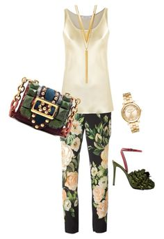 gren by codrinabazu on Polyvore featuring polyvore fashion style Gloria Coelho Dolce&Gabbana Marco de Vincenzo Burberry Michael Kors BERRICLE clothing