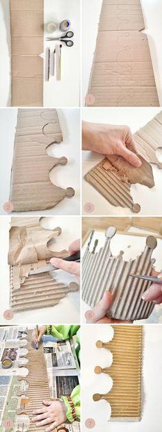DIY Cardboard Crown- For Epiphany Dinner
