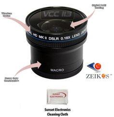 0.18x Wide Angle Fisheye Lens With Macro lens For The Panasonic Lumix DMC-FZ8 DMC-FZ7 $56.78
