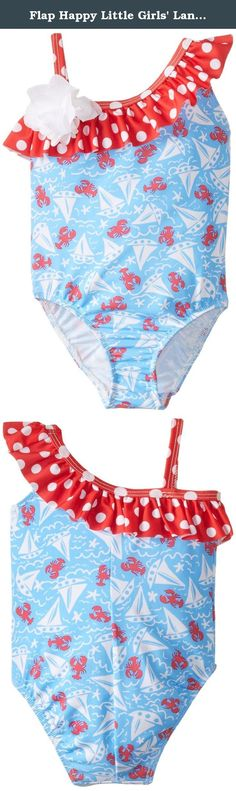 261571160d Flap Happy Little Girls' Lanikai Asymmetrical Swimsuit, Somersault Sails, Flap  Happy's UPF asymmetrical swimsuit has comfort, sun protection and style for  ...