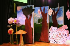 looks like this is 2-sided!  alice in wonderland school play scenery - Google Search