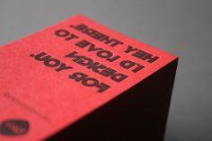 Duplexed letterpress business cards