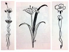 art deco lily flower - Google Search 2