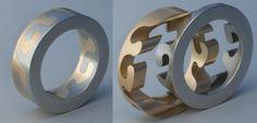 Locking puzzle Ring