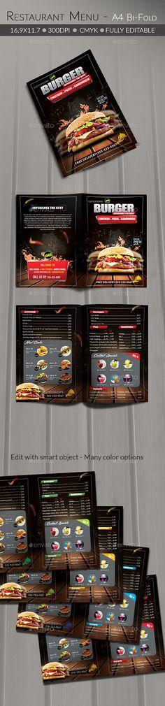 Food/ Burger Menu — Photoshop PSD #mexican menu #smoke • Available here → https://graphicriver.net/item/food-burger-menu/14450113?ref=pxcr