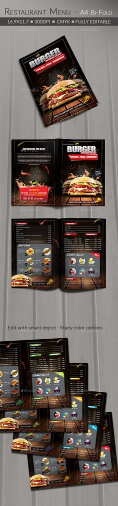 Love the bold colors of the food against the black background. The red banner really pops.