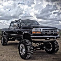 black lifted Ford F-150