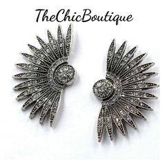 Big, bold and beautiful. Very stylish fan earrings..just like the superstars wear | Shop this product here: http://spreesy.com/TheChicBoutique/49 | Shop all of our products at http://spreesy.com/TheChicBoutique    | Pinterest selling powered by Spreesy.com